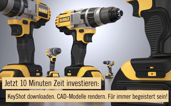 Jetzt 10 Minuten Zeit investieren: KeyShot downloaden. CAD-Modelle rendern. Für immer begeistert sein!