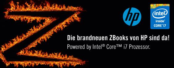Die brandneuen ZBooks von HP sind da! Powered by Intel® Core™ i7 Prozessor